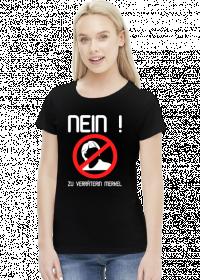 Nein zu Verräterin Merkel (woman t-shirt) light image