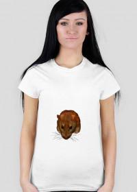 Koszulka Damska napis z tyłu Trzymam dzieci w klatce