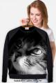 Zamyślony kot - Bluza damska