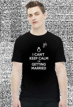 koszulka z nadrukiem cant calm