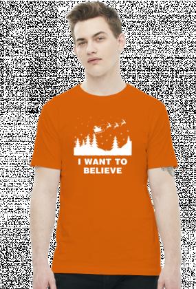 Koszulka Mikołaj I want to believe