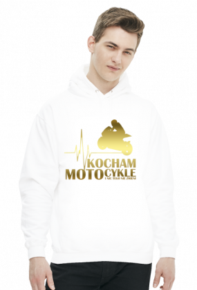 Kocham motocykle gold - bluza motocyklowa