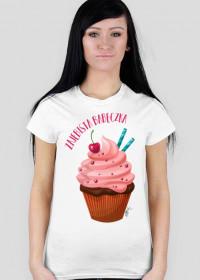 T-shirt Damski - Zajebista babeczka