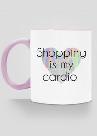 "Kubek ""shopping is my cardio"""