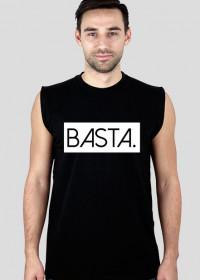 Koszulka sportowa męska ciemna z napisem BASTA