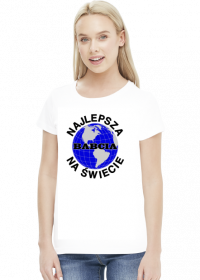 Prezent dla babci koszulka Najlepsza babcia na świecie