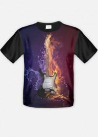 Koszulka gitara fullprint