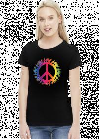 Peace and love koszulka damska