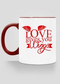 Walentynki kubek Love gives you wings