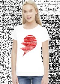 Koszulka dla par - druga połówka serca