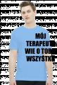 MÓJ TERAPEUTA - koszulka męska