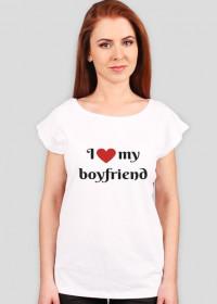 Koszulka I love my Boyfriend na walentynki
