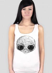 T-shirt damski bez rękawów