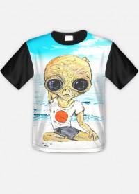 T-shirt męski FullPrint Alien Joga