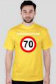 Przekroczyłem 70 - koszulka urodzinowa (różne kolory)