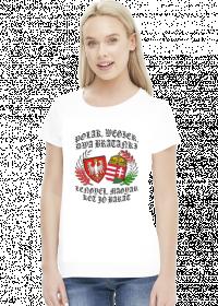 Polak, Węgier / Lengyel, magyar - koszulka damska (women's t-shirt)
