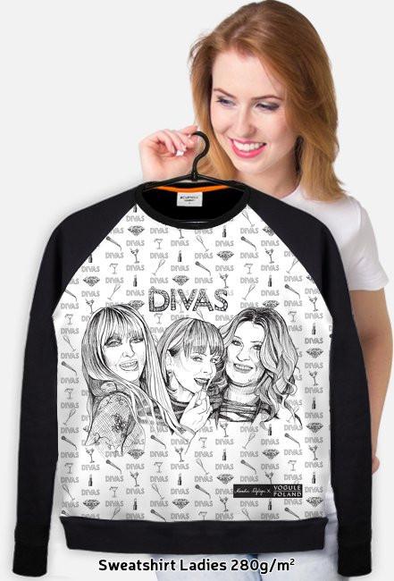 Divas / Maryla Rodowicz, Izabela Trojanowska, Beata Kozidrak / bluza slim