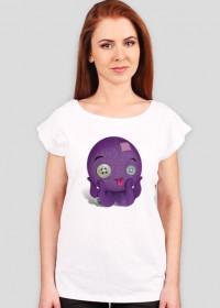 Pluszowa ośmiorniczka - koszulka damska