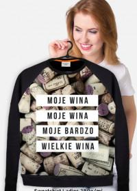 """Gruba bluza damska """"Moje wina"""""""