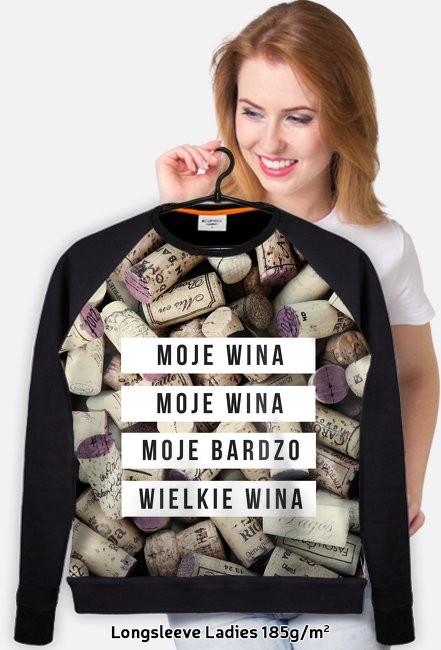 """Bluza damska """"Moje wina"""""""