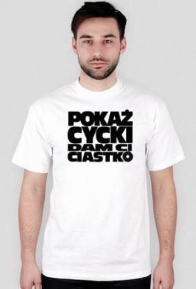 T-Shirt Pokaż Cycki White Men