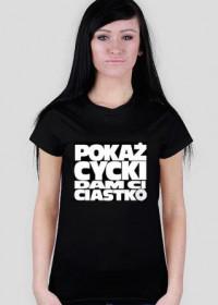 T-Shirt Pokaż Cycki Black Women
