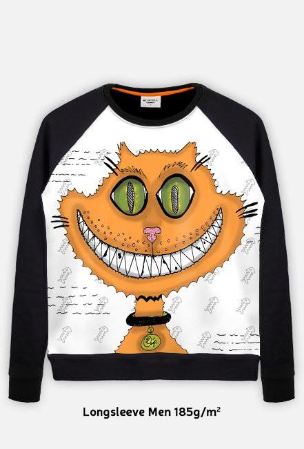 PROMOCJA! Śmiejący się kot! Grin cat! Lekka bluza FullPrint Męska