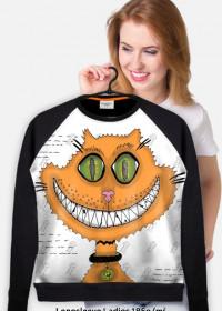 PROMOCJA! Śmiejący się kot! Grin cat! Lekka bluza FullPrint Damska