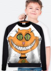 PROMOCJA! Śmiejący się kot! Grin cat! Lekka bluza FullPrint Dziecięca