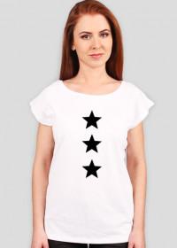Damska koszulka z gwiazdami Made with Love