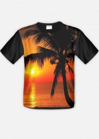 TROPICAL PALM - koszulka FullPrint