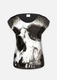 Czaszka - koszulka damska, fullprint