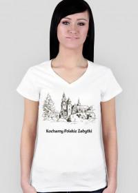 Koszulka damska Kochamy Polskie Zabytki v.2