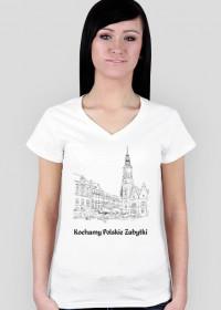 Koszulka damska Kochamy Polskie Zabytki v.3