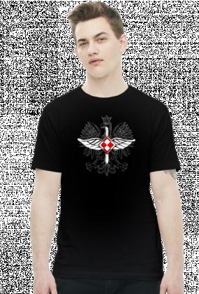 AeroStyle - męska czarna koszulka lotnicza - korpusówka