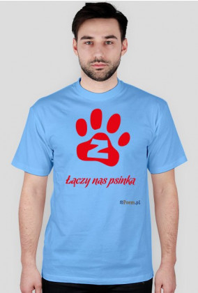 Łączy nas psinka - koszulka męska TS