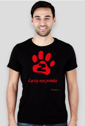 Łączy nas psinka - koszulka męska slim