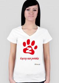 Łączy nas psinka - koszulka damska V-neck