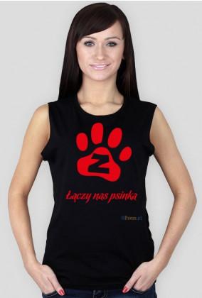 Łączy nas psinka - koszulka damska bez rękawów