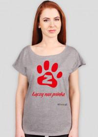 Łączy nas psinka - koszulka damska oversize