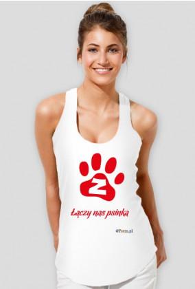 Łączy nas psinka - koszulka damska bokserka