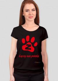 Łączy nas psinka - luźna koszulka damska