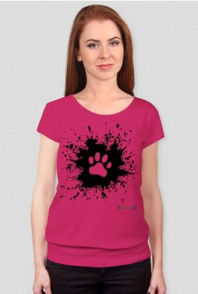 Łapka na błocie - luźna koszulka damska