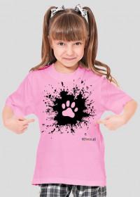 Łapka na błocie - koszulka dziewczęca