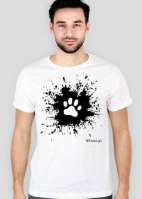 Łapka na błocie - koszulka męska slim
