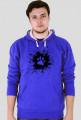 Łapka na błocie - bluza męska z kolorowym kapturem
