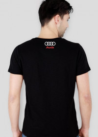 "Koszulka slim ""KEEP CALM AND DRIVE AUDI"" custom znaczek tyl"