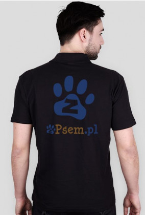 zPsem.pl PSIjazna strona internetu - koszulka polo (2 x logo)