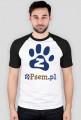 zPsem.pl - koszulka męska kolorowe rękawy