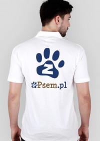 zPsem.pl PSIjazna strona internetu - koszulka polo logo z tyłu